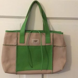 UGG canvas and leather tote